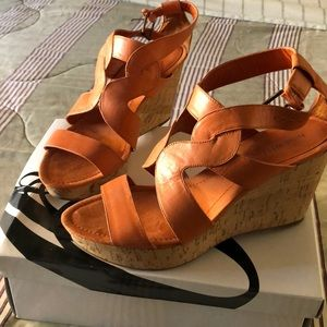 NINE WEST WEDGES WITH BOX